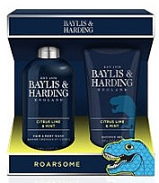 Духи, Парфюмерия, косметика Набор - Baylis & Harding Men's Citrus Lime & Mint 2 Piece Set(hair/body/wash/300ml+sh/gel/200ml)