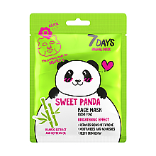 "Духи, Парфюмерия, косметика Маска для лица ""Милая панда"" - 7 Days Animal Sweet Panda"