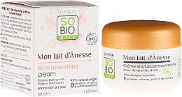 Духи, Парфюмерия, косметика Интенсивный питательный крем для лица с ослиным молоком - So'Bio Etic Mon Lait d'Anesse Rich Nourishing Cream