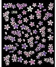 Духи, Парфюмерия, косметика Наклейки для ногтей (цветы красные и зеленые), 3606/8 - Donegal