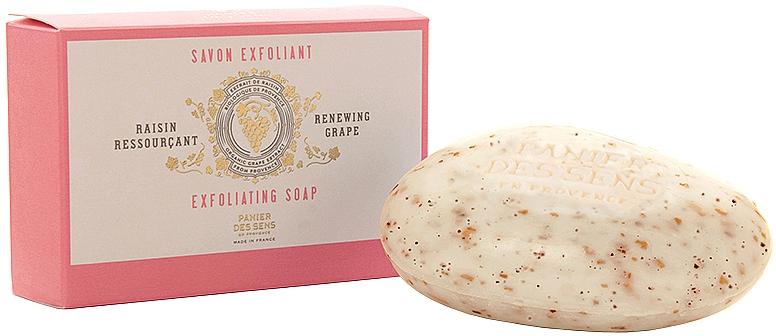 """Отшелушивающее мыло """"Белый виноград"""" - Panier Des Sens Renewing Grape Exfoliating Soap — фото N1"""