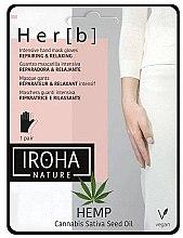 Духи, Парфюмерия, косметика Маска для рук - Iroha Nature Cannabis Hand Mask