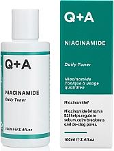 Духи, Парфюмерия, косметика Увлажняющий тонер для лица - Q+A Niacinamide Daily Toner