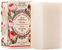 """Духи, Парфюмерия, косметика Экстра-нежное растительное мыло """"Роза"""" - Panier des Sens Rose Extra-Gentle Vegetable Soap"""
