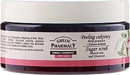 "Духи, Парфюмерия, косметика Сахарный скраб ""Мускатная роза и Зеленый чай"" - Green Pharmacy"