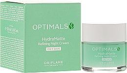Духи, Парфюмерия, косметика Увлажняющий матирующий ночной крем для лица - Oriflame Optimals Hydra Matte Refininf Night Cream