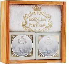 Духи, Парфюмерия, косметика Набор - Essencias De Portugal Senses Wooden Box (soap/2x200g + towel)