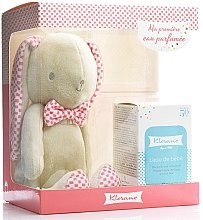 Духи, Парфюмерия, косметика Klorane Bebe Fragrant Water For Baby - Набор (edt 50 ml + Rabbit Teddy Pink)