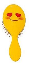 Духи, Парфюмерия, косметика Расческа для волос 2003W, смайлик с улыбкой - IDC Design XL Detangle Brush