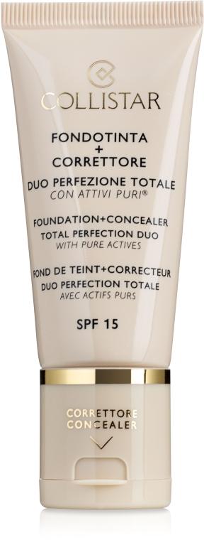 Тональное средство - Collistar Foundation + Concealer Total Perfection Duo — фото N1