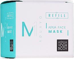 Духи, Парфюмерия, косметика Увлажняющая маска для лица - AQUAYO Aqua Face Mask (сменный блок)