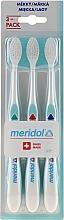 Духи, Парфюмерия, косметика Зубная щетка, мягкая, 3шт, зеленая+красная+голубая - Meridol Gum Protection Soft Toothbrush