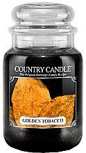 Духи, Парфюмерия, косметика Ароматическая свеча в банке - Country Candle Golden Tobacco