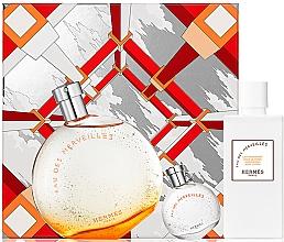 Духи, Парфюмерия, косметика Hermes Eau Des Merveilles - Набор (edt/100ml + edt/7.5ml + b/lot/40ml)