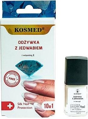 Шелковый кондиционер для ногтей 10в1 - Kosmed Silk Nail Conditioner — фото N1
