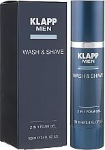 Духи, Парфюмерия, косметика Гель для бритья и умывания - Klapp Men Wash & Shave 2in1 Foam Gel