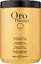 Духи, Парфюмерия, косметика Восстанавливающая маска с активными микрочастицами золота - Fanola Oro Therapy Oro Puro Mask