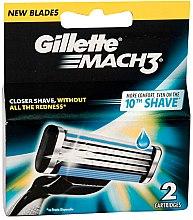 Духи, Парфюмерия, косметика Сменные кассеты для бритья, 2 шт - Gillette Mach3