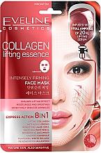 Духи, Парфюмерия, косметика Антивозрастная коллагеновая тканевая маска с сильным лифтинг эффектом 8в1 - Eveline Cosmetics Collagen Lifting Essence Face Mask