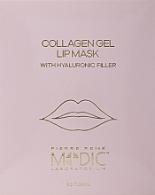 Духи, Парфюмерия, косметика Коллагеновая маска для губ - Pierre Rene Medic Collagen Gel Lip Mask