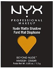 Духи, Парфюмерия, косметика Матовые тени для век - NYX Professional Matte Shadow Beyond Nude