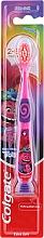 Духи, Парфюмерия, косметика Детская зубная щетка, 2-6 лет, розовая-фиолетово, троль - Colgate Smiles Kids Extra Soft
