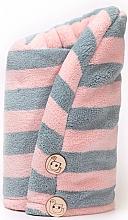 Духи, Парфюмерия, косметика Полотенце для волос из микрофибры, Pink + Grey - Trust My Sister