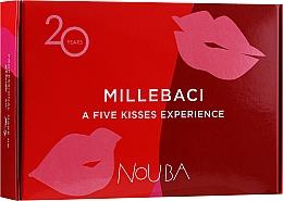 Духи, Парфюмерия, косметика Набор №1 - NoUBA Millebaci Box Set 5 Kisses Experience (lipstick/5х6ml)