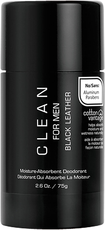 Набор - Clean Black Leather Men (edt/100ml + deo/75ml) — фото N6