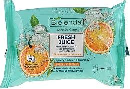 "Духи, Парфюмерия, косметика Мицеллярные салфетки для снятия макияжа ""Апельсин"" - Bielenda Fresh Juice Micelar Make-up Removing Wipes"