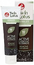 Духи, Парфюмерия, косметика Черная отбеливающая зубная паста с бамбуковым углем - Twin Lotus Herbaliste Active Charcoal Toothpaste