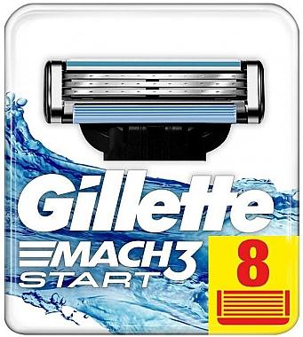 Сменные кассеты для бритья, 8шт - Gillette Mach3 Start — фото N2