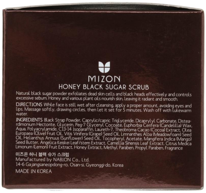 Скраб с черным сахаром и медом - Mizon Honey Black Sugar Scrub — фото N3