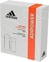Духи, Парфюмерия, косметика Набор - Adidas Adipower Men (deo/150ml +sh/gel/250ml)