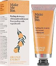 Пилинг для лица с растительными кислотами - Make Me Bio Orange Energy Face Peeling With Vegetal Acids — фото N2
