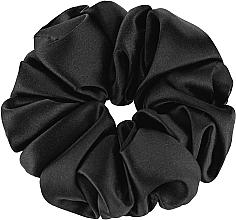 """Духи, Парфюмерия, косметика Резинка для волос из натурального шелка, черная """"Largy"""" - Makeup Largy Scrunchie Black"""