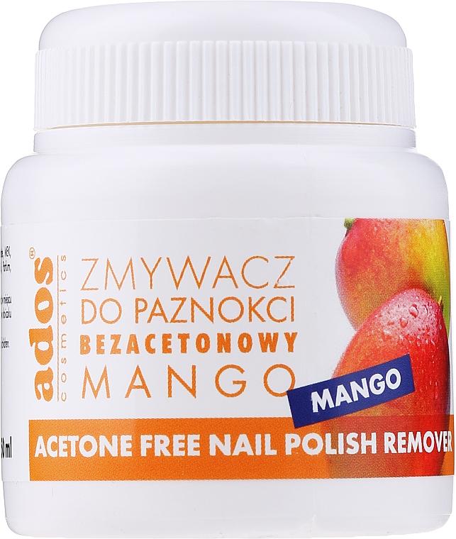 "Жидкость для снятия лака ""Манго"" с губкой - Ados Acetone Free Nail Polish Remover — фото N1"