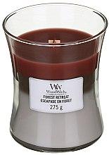 Духи, Парфюмерия, косметика Ароматическая свеча в стакане - WoodWick Hourglass Trilogy Candle Forest Retreat