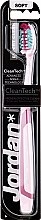 "Духи, Парфюмерия, косметика Зубная щетка мягкая ""Expert Clean"", розово-бордовая - Jordan Tandenborstel Expert Clean Soft"