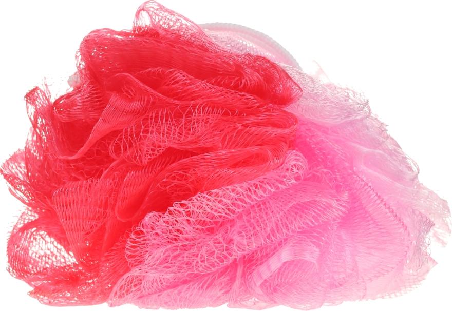 Мочалка банная 30352, розовая - Top Choice — фото N1