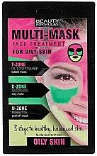 Духи, Парфюмерия, косметика Маска для жирной кожи лица - Beauty Formulas 3-Step Multi Mask Face Treatment Oily Skin