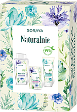 Духи, Парфюмерия, косметика Набор - Soraya Naturally (micellar water/400ml + f/gel/150ml + f/mask/17ml)