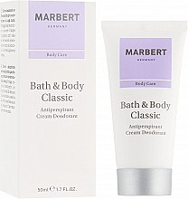 Духи, Парфюмерия, косметика Антиперспирантный крем-дезодорант - Marbert Bath & Body Classic Anti-Perspirant Cream Deodorant