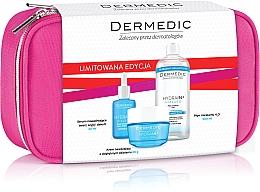 Духи, Парфюмерия, косметика Набор - Dermedic Hydrain 3(ser/30/ml+cr/50/ml+mic/water/500/ml+bag)