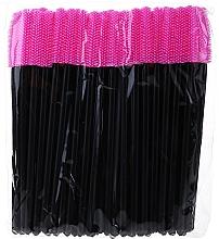 Духи, Парфюмерия, косметика Силиконовые щеточки для ресниц, черно-розовые - Novalia Group