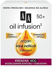 Духи, Парфюмерия, косметика Моделирующий ночной крем от морщин - AA Oil Infusion Modeling Night Cream From Wrinkles 50+