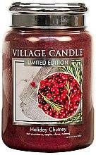 Духи, Парфюмерия, косметика Ароматическая свеча в банке - Village Candle Holiday Chutney Glass Jar