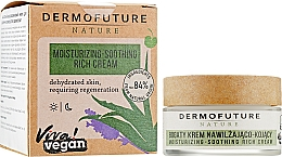 Духи, Парфюмерия, косметика Увлажняюще-успокаивающий насыщенный крем для лица - DermoFuture Nature Moisturizing-Soothing Rich Cream