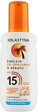 Духи, Парфюмерия, косметика Эмульсия для загара - Kolastyna Emulsion Spray SPF 15