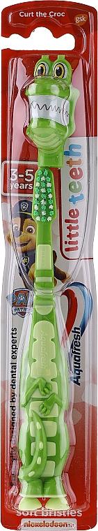 Детская зубная щетка, зеленый крокодил - Aquafresh Soft — фото N1